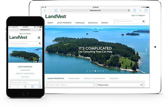 Landvest On Mobile Devices